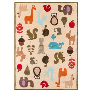 Ivory Critters Rug