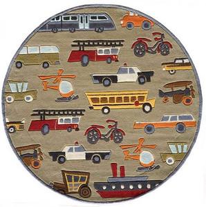 Transportation Concrete Rug