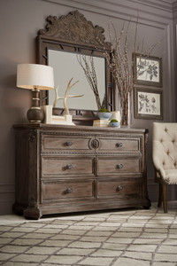 View of the Miabella 6 Drawer Dresser