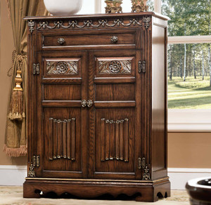 View of the St. Augustine Cacao Shoe Cabinet