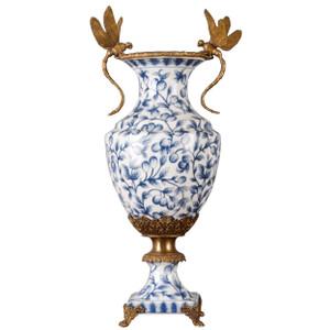 Blue Vine Dragonfly Vase