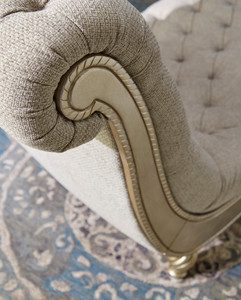 View of the Birchwood Khaki Chaise