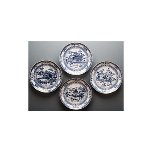 View of the Blue Willow Set of 4 Plates