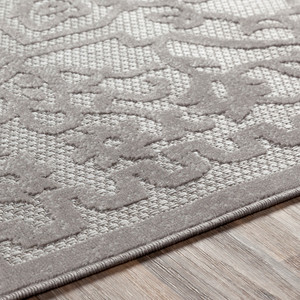 Engraved Taupe Rug
