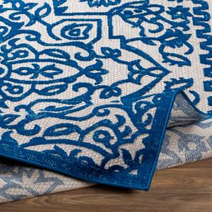Engraved Cobalt Rug
