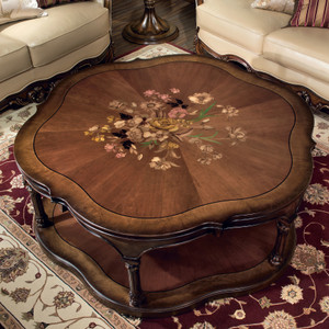View of the Marquetry Coffee Table