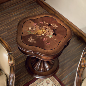 View of the Marquetry End Table