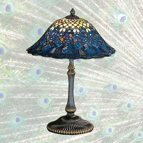 View of the Peacock Table Lamp.