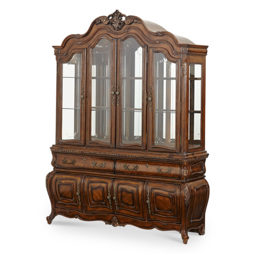 Caravelle Warm Walnut China Cabinet