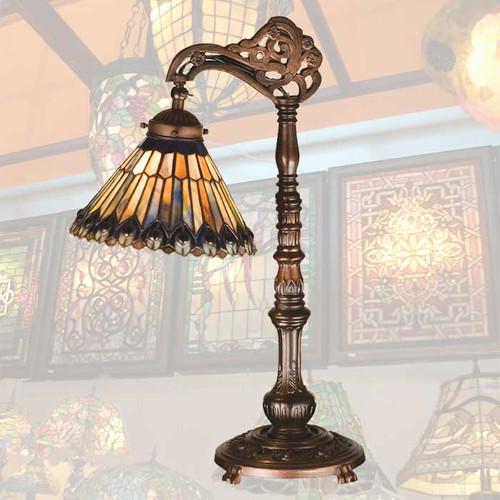 Glowing Jewels Bridge-Arm Lamp