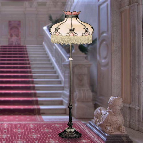 Ivory Rose Floor Lamp