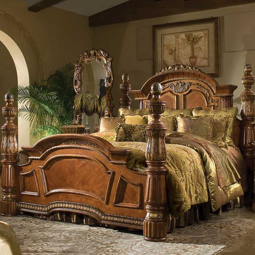 Renaissance King Low Poster Bed