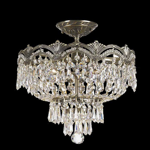 Crystal Extravaganza Small Semi-Flush Mount