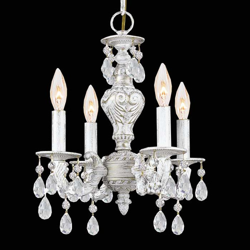 White Crystal Small Chandelier