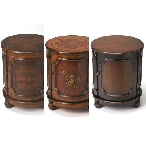 Cove Drum Table in 3 Hand Painted Finishes