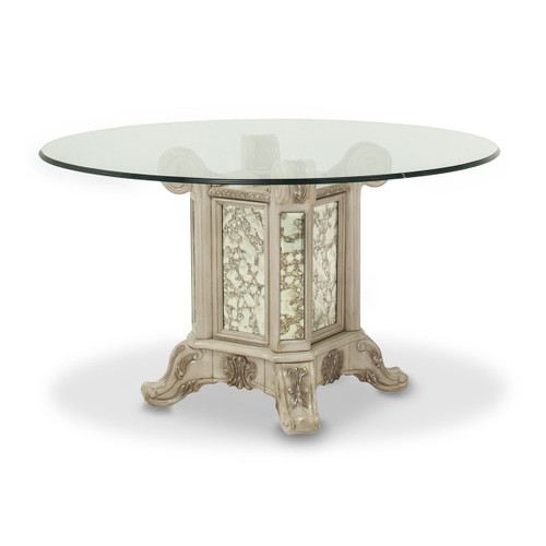 Palermo Round Glass-Top Table