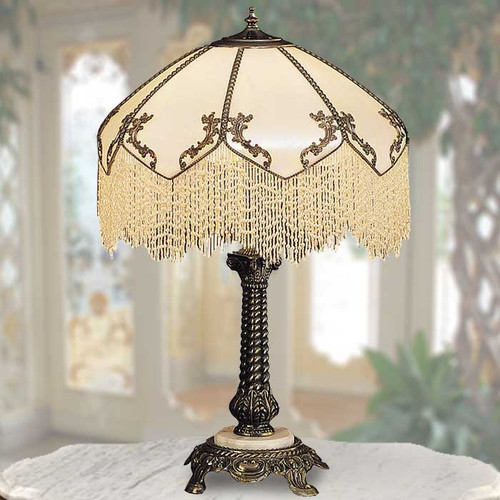 View of the Ivory Charm Table Lamp.