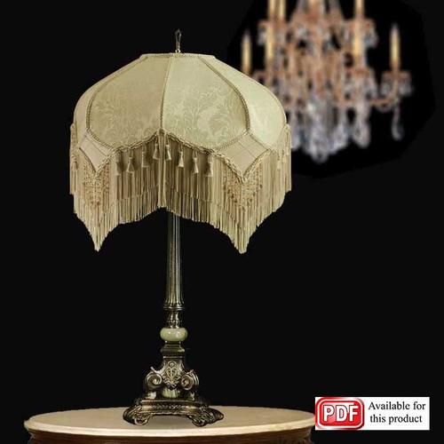 Vintage Ivory Lamp