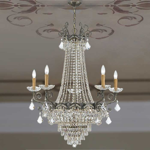 View of the Crystal Extravaganza Chandelier Candelabra.