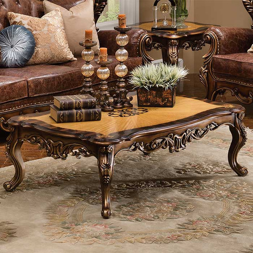 Bronze and Leather Coffee Table