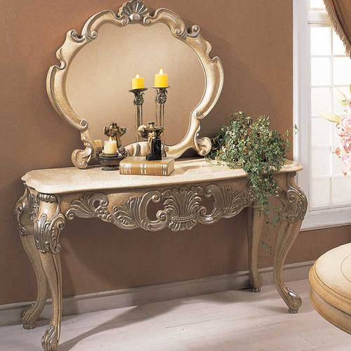 Chablis Console in Antique Bisque