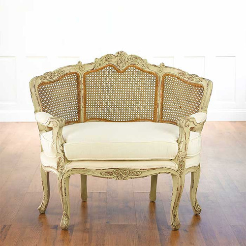 Victoire Cane Chair and Half