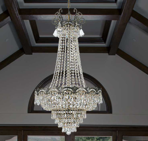 View of the Crystal Extravaganza Chandelier.