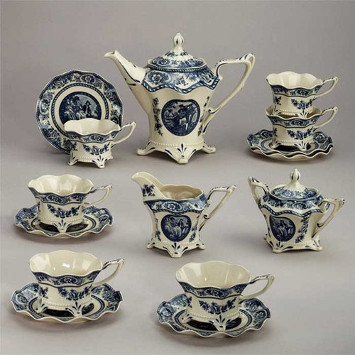 Sapphire Toile Tea Set