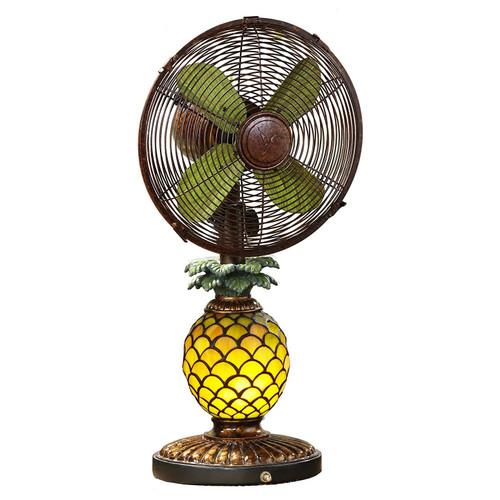 Pineapple Mosaic Fan Lamp