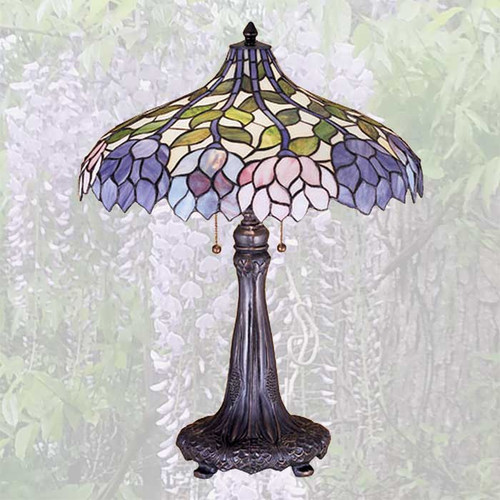 View of the Wisteria Table Lamp.