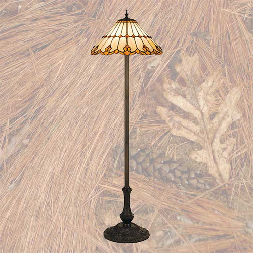Golden Pine Floor Lamp