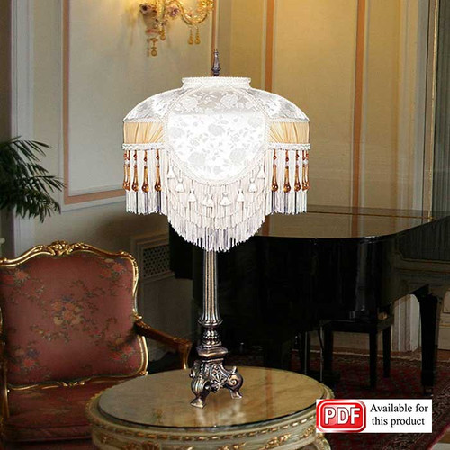 Ivory and Amber Lamp