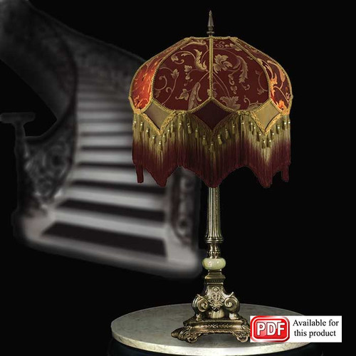 Deep Red & Gold Lamp