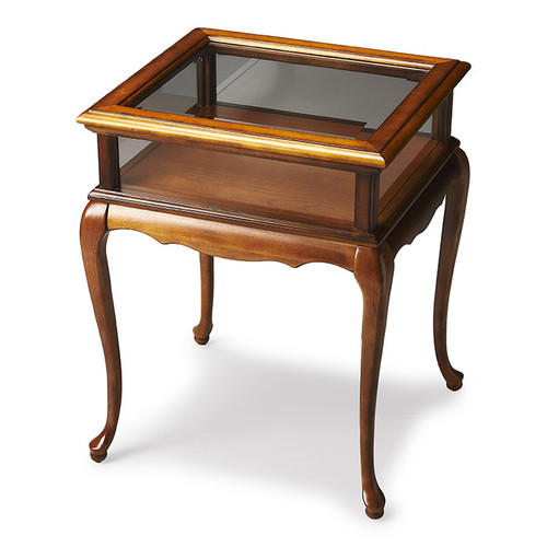 Benton Curio Table in Olive Ash Burl