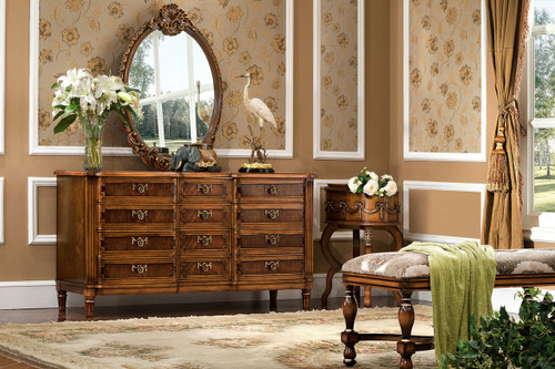 View of the Sir Hamilton Cottage Dresser (Small)- with Mirror.