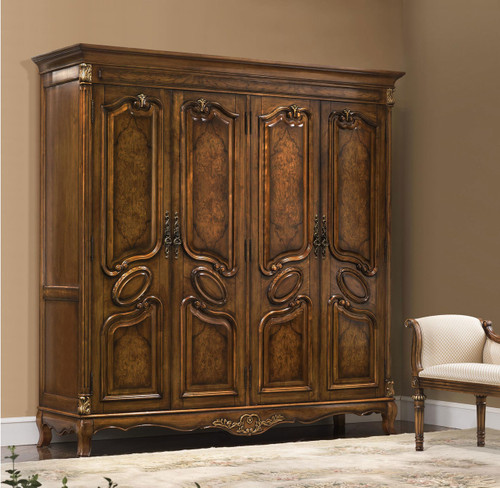 View of Four Door Armoire
