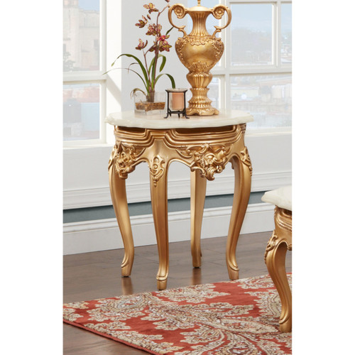 End Table in Gold Finish