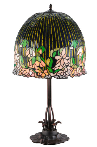 View of the Flowering Lotus Table Lamp