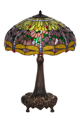 View of the Dragonfly Wing Table Lamp.