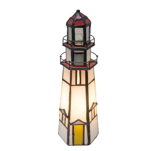 View of Lighthouse on Marble Head Lamp