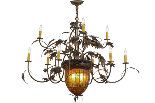 View of the Greenbriar Oak Chandelier.