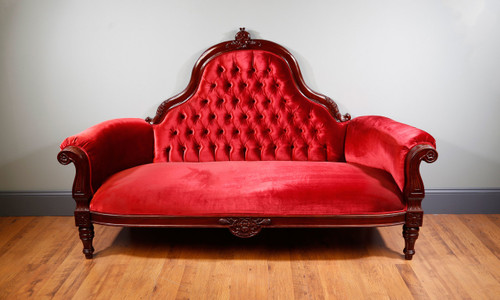 View of the Lady Grantham Tufted Sofa.
