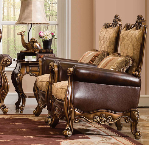 View of the Palais de Bronze Accent Chair.