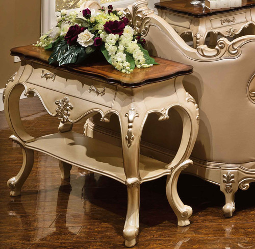 View of the Palais d'Opale Console Table in Egyptian Pearl Finish- photo not available in Palais d'Bronze