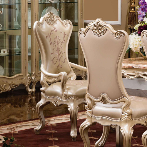 View of the Palais d'Opale Arm Chair w Leather *