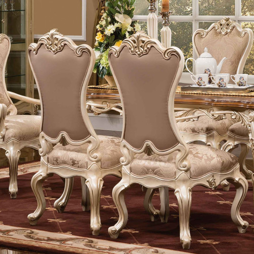 View of the Palais d'Opale Side Chair w Fabric.