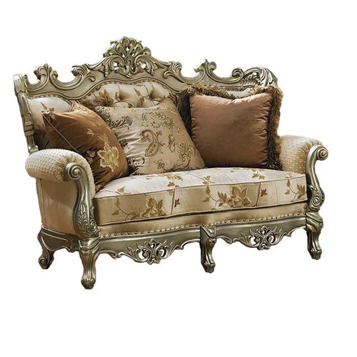 Celeste Antique Silver Loveseat