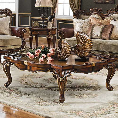 Celeste Antique Cognac Coffee Table