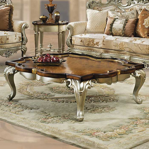 Celeste Antique Silver Coffee Table