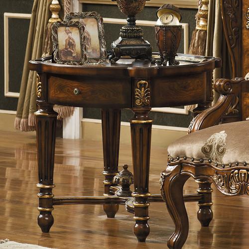 Celeste Antique Cognac End Table